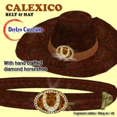 CALEXICO Belt and Hat