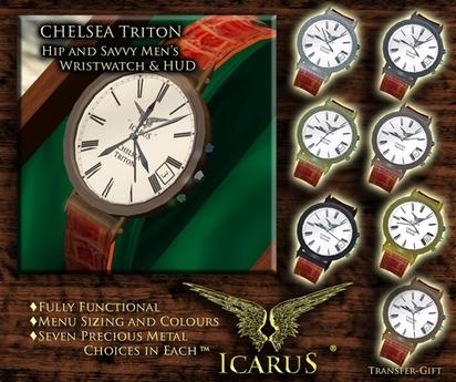 ==IcaruS==CHELSEA Triton Mens WATCH -3.0 BOXED