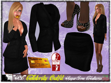 **SD** -Celebrity - ( Mesh Outfit )  - Black/Gold 1.1
