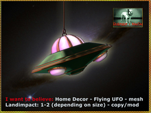 Bliensen + MaiTai - I want to believe - Home Decor - flying UFO