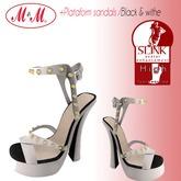 M&M+Platform Sandals+B/W+