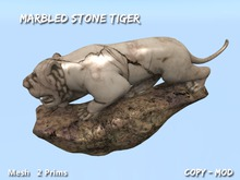 Marbled Stone Tiger Mesh Sculpture