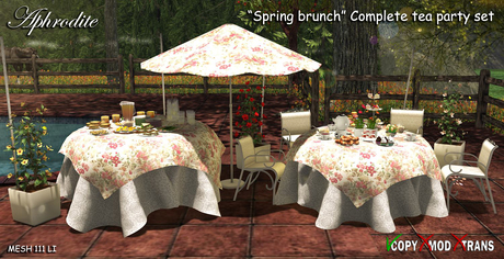 "Aphrodite ""Spring brunch"" Complete tea party set! Includes all"