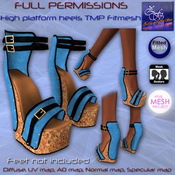 Full perm-High Platform Heels TMP Fitmesh