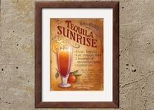 Kitchen Art - Tequila Sunrise - Framed