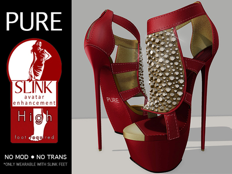 PURE : Slink Fab Pumps  - Red