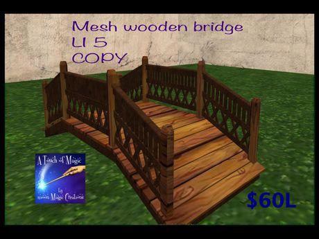 Mesh Wooden Bridge