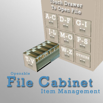 Second Life Marketplace Simple File Cabinet Inventory