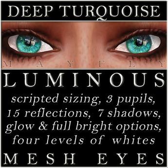 Mayfly - Luminous - Mesh Eyes (Deep Turquoise)