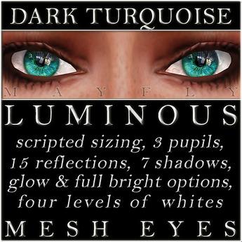 Mayfly - Luminous - Mesh Eyes (Dark Turquoise)