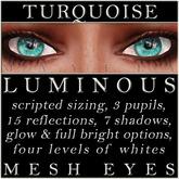 Mayfly - Luminous - Mesh Eyes (Turquoise)