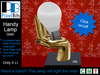 PB - Handy Lamp Gold *click on/off*
