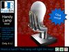 Advert   handy lamp silver