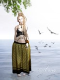 *DEMO* AMERIE - Mesh Long Skirt