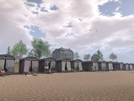 Dutchie all Northseacoast mesh beach cottages - with decorative towels and 2 times 7 single animations