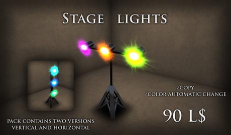 Stage lights  (two version included) ( LIGHTING CLUB LIGHTS LASER SMOKE LASERLIGHT  beam club spotli