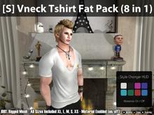 [S] Vneck TShirt Fat Pack (8 in 1)