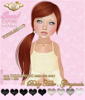 :*BABY*: Hair Sarah - ToddleeDoo - Grayscale