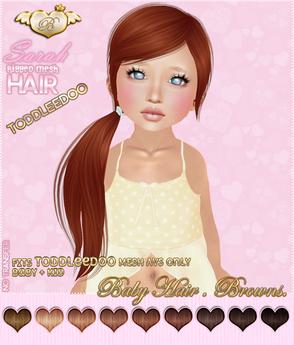 :*BABY*: Hair Sarah - ToddleeDoo - Browns