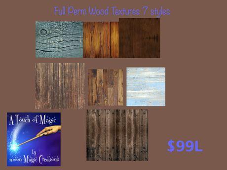 7 Full perm wood textures (bag)