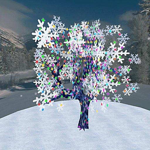 Blinking Winter Tree (ONLY 1 PRIM!!!)