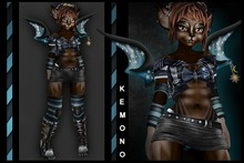 *Slyan* Blue di Blue Kemono Set (with UV / Shadow textures)