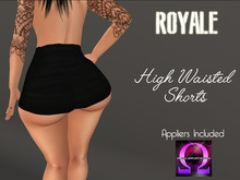 [Royale] High Waisted Shorts Black