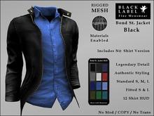 BLM MESH - Men's Materials Enabled Bond St. Black Leather Jacket & Shirt Combo - Black