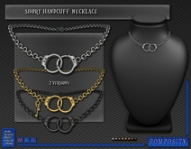POMPOSITY - Short Handcuff Necklace - BOXED