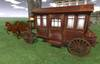 "32 prim ""Diligence w Animated Horses"" scripted vehicle (copy)"