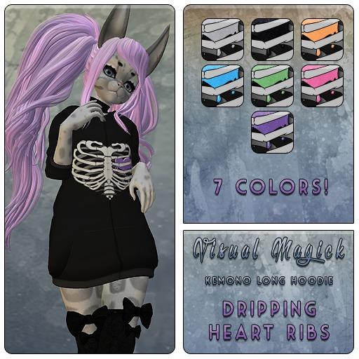 .: Visual Magick :. Krankahus Long Hoodie Ribcage Hearts
