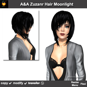 A&A Zuzanr Hair Moonlight (Promo Color). Medium womens flexi hairstyle.