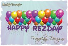 ~HAPPY REZDAY BALLOONS TRANSPARENCY Banner RESIZE/TRANSFER