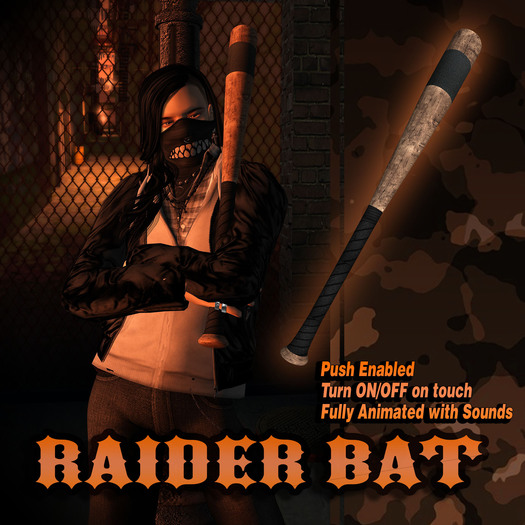 Raider Baseball Bat