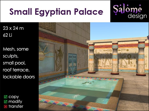 Small Egyptian Palace for 1024 sqm parcels