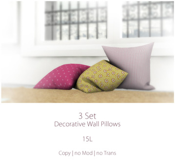 ~Pillows~ 3 Set Wall Pillows