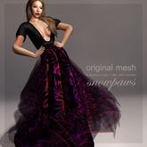 Snowpaws -Belize Mesh Gown - Hibiscus