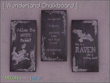 [M] Wonderland Chalkboards [PAST HUNT ITEM]