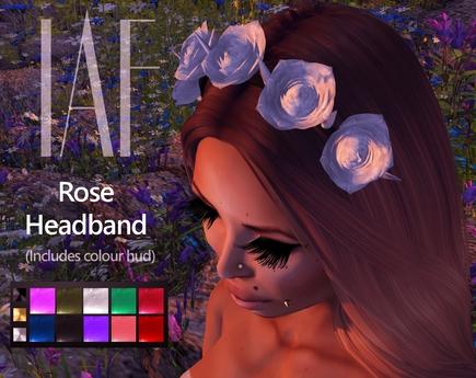 IAF Rose Headband (with colour hud)