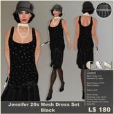 G&N Jennifer 20s Mesh Flapper Dress Black (Copy Version)