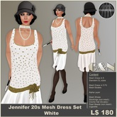 G&N Jennifer 20s Mesh Flapper Dress White (Copy Version)