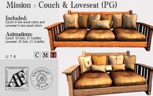 *AF* Mission - Couch & Loveseat - PG  (Wear Me)