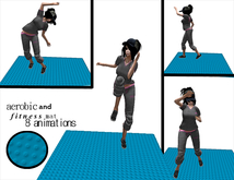 Aerobic and fitness map - 1 prim only - 8 fitness animations