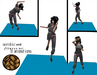 Aerobic and fitness map rattan - 1 prim only - 8 fitness animations