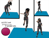 aerobic and fitness map pink/rosa - 1 prim only - 8 fitness animations