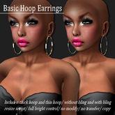 EARRING BASIC-HOOP GOLD     -RYCA-