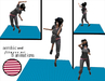 aerobic and fitness map pink / white - 1 prim only - 8 fitness animations