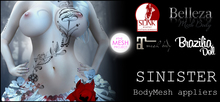 [White~Widow] Sinister - MeshBody Appliers *wear me*