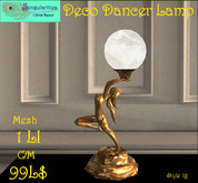 Deco Dancer with Light Globe Lamp 1 (Gold Tone), Mesh, 1LI