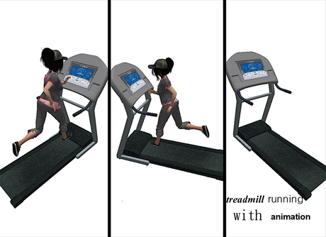 treadmill running with animation